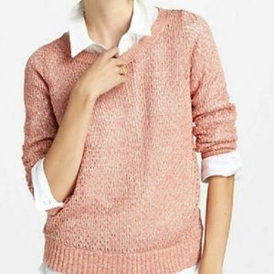{Anthropologie} Guinevere Coral and Gold Sweater